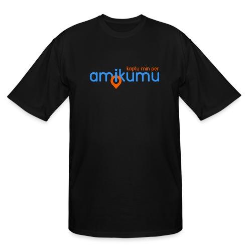 Kaptu min per Amikumu Blua - Men's Tall T-Shirt