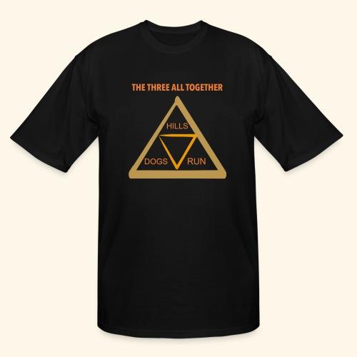 Run4Dogs Triangle - Men's Tall T-Shirt