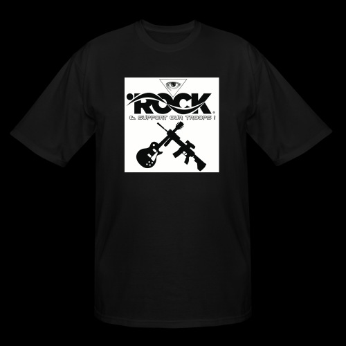 Eye Rock & Support The Troops - Men's Tall T-Shirt