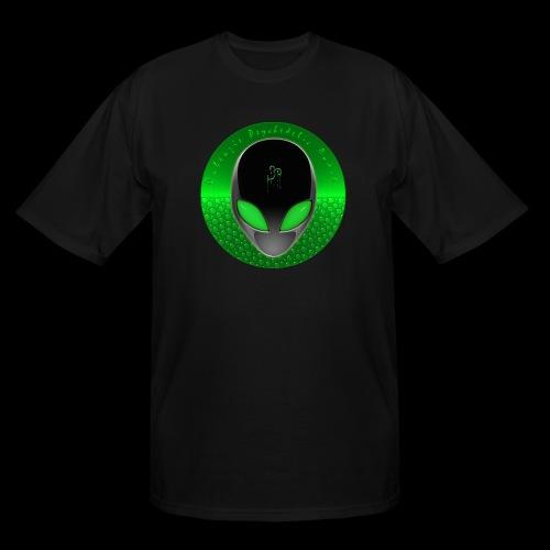 Psychedelic Alien Dolphin Green Cetacean Inspired - Men's Tall T-Shirt