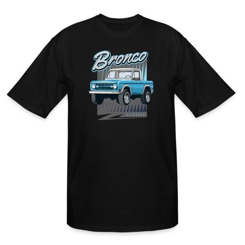 BRONCO Blue Half Cap Truck T-Shirt - Men's Tall T-Shirt