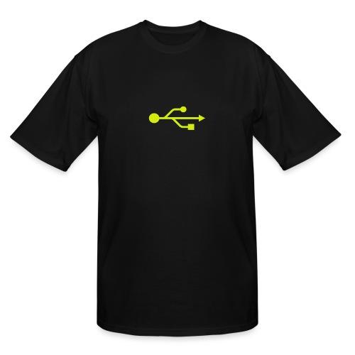 Yellow USB Logo Mid - Men's Tall T-Shirt