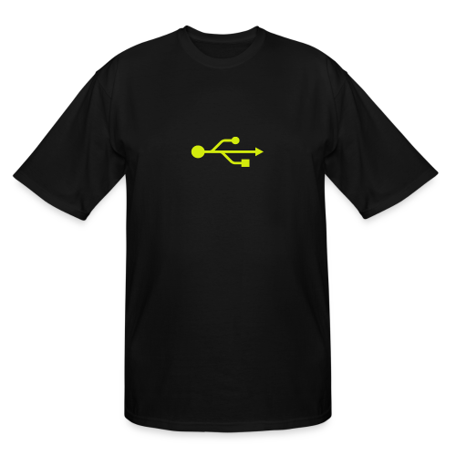 Yellow USB Logo Mid - Men's Tall T-Shirt