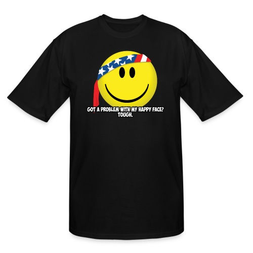 Happy Face USA - Men's Tall T-Shirt