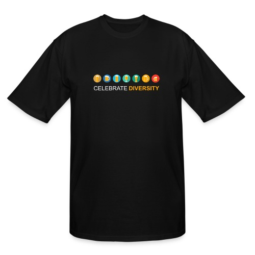 Celebrate Diversity - Men's Tall T-Shirt