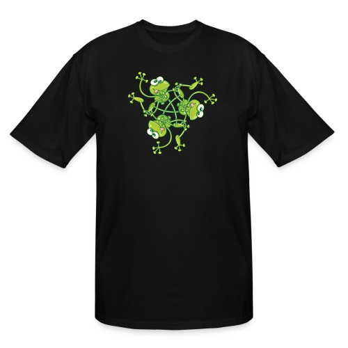 Frogs having fun when rotating in a pattern design - Men's Tall T-Shirt