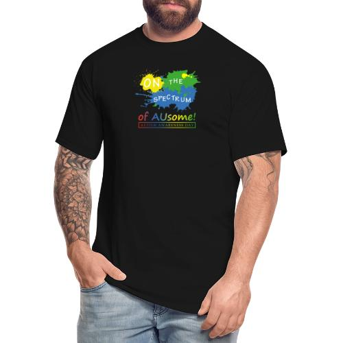 On the Spectrum of AUsome Autism Awareness Day - Men's Tall T-Shirt