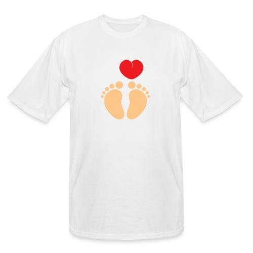 I HEART FEET Men's Organic Tee - Men's Tall T-Shirt