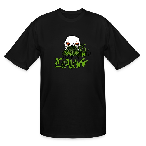Leaking Gas Mask - Men's Tall T-Shirt