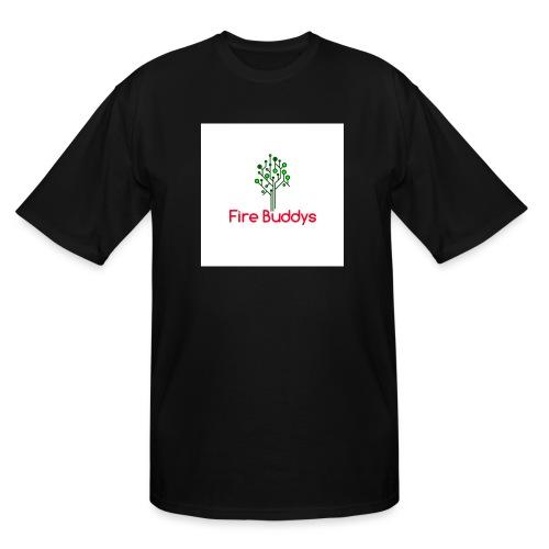Fire Buddys Website Logo White Tee-shirt eco - Men's Tall T-Shirt
