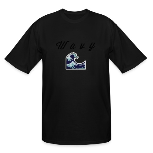 Wavy Abstract Design. - Men's Tall T-Shirt