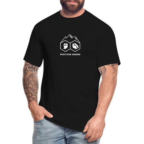 Pikes Peak Gamers Logo (Transparent White) - Men's Tall T-Shirt