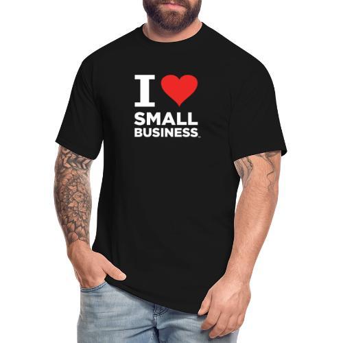 I Heart Small Business Logo (Red & White) - Men's Tall T-Shirt