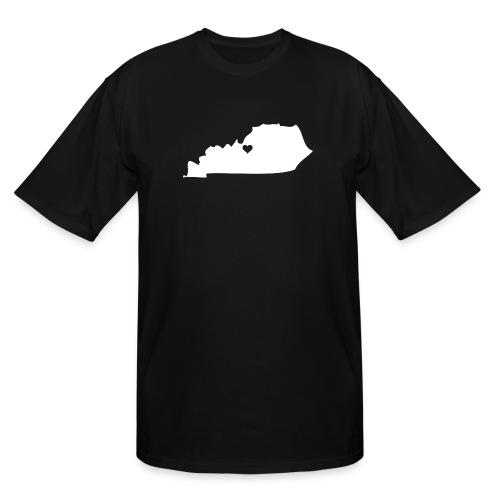 Kentucky Silhouette Heart - Men's Tall T-Shirt