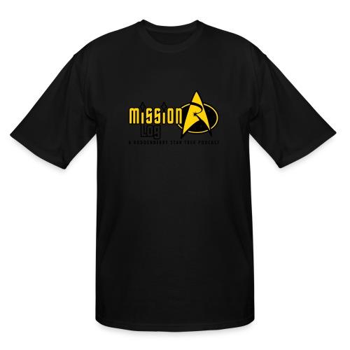 Logo Wide 2 Color Black Text - Men's Tall T-Shirt
