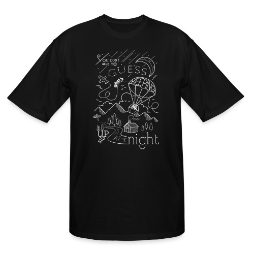 Up at Night Design - Men's Tall T-Shirt