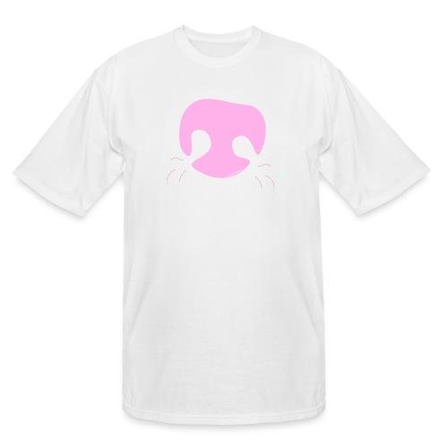 Pink Whimsical Dog Nose - Men's Tall T-Shirt