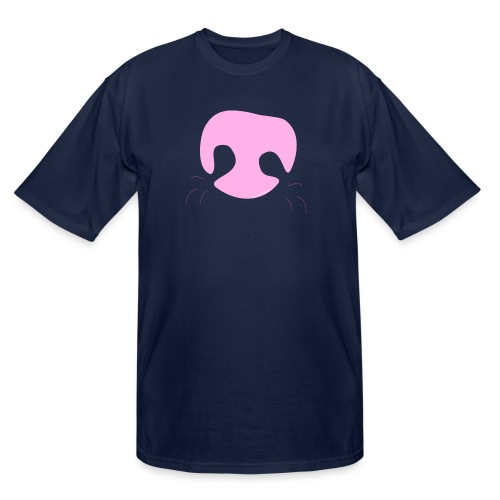 Pink Whimsical Dog Nose - Men's Tall T-Shirt
