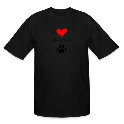 Dog Lovers shirt - My Heart Belongs to my Dog - Men's Tall T-Shirt