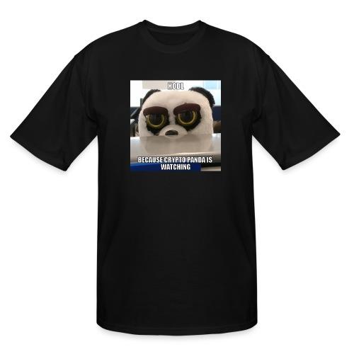 Crypto Panda Is Watching - Men's Tall T-Shirt