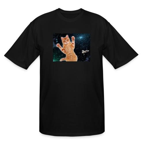 Cat in Deep Space - Men's Tall T-Shirt