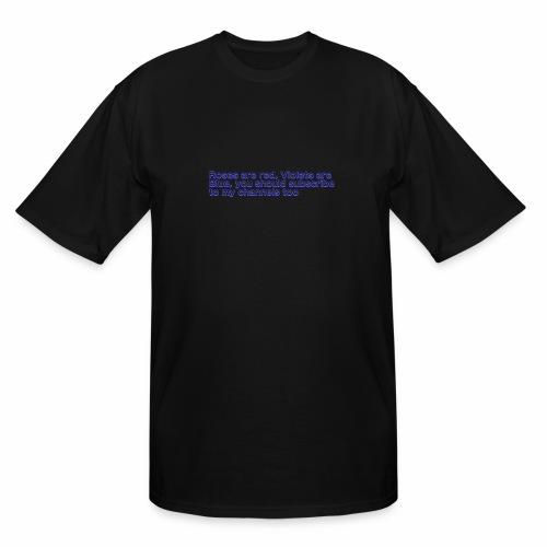 Poem Text - Men's Tall T-Shirt