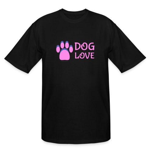 Pink Dog paw print Dog Love - Men's Tall T-Shirt