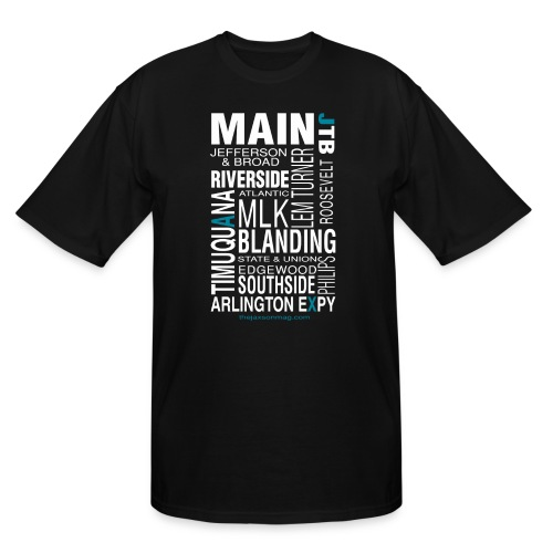 Jacksonville Streets - Men's Tall T-Shirt