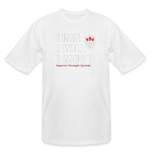 I can I will I must - Men's Tall T-Shirt