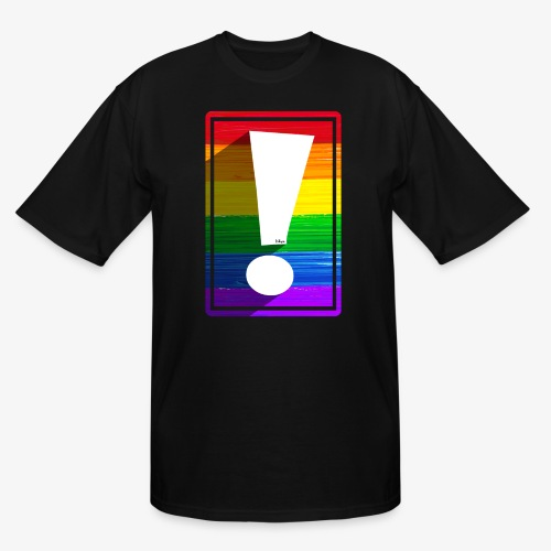 LGBTQ Pride Exclamation Point - Men's Tall T-Shirt