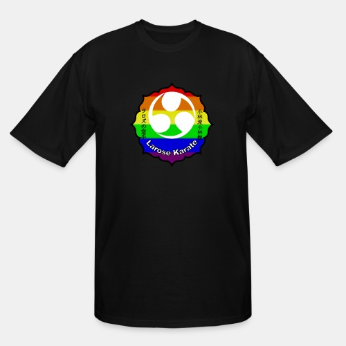 Larose Karate Rainbow Logo - Men's Tall T-Shirt
