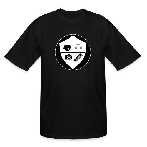 Punk Who Drinks Tea Crest (Inverted) - Men's Tall T-Shirt
