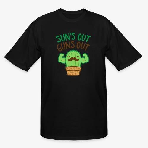 Sun's Out Guns Out Macho Cactus - Men's Tall T-Shirt