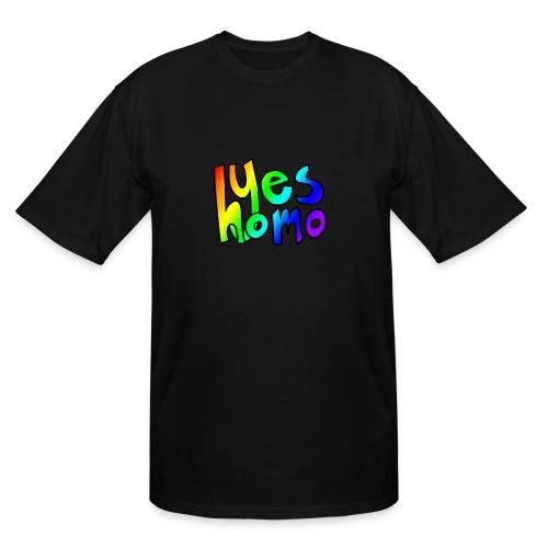 Yes Homo (Rainbow) - Men's Tall T-Shirt
