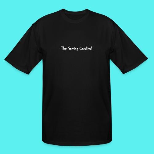 white logo text - Men's Tall T-Shirt