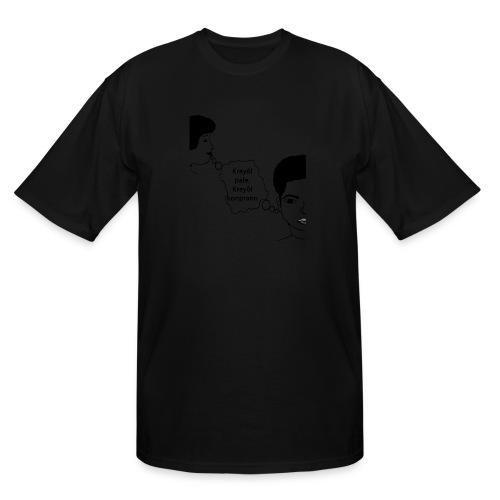 Kreyol_pale_Kreyol_kompran - Men's Tall T-Shirt