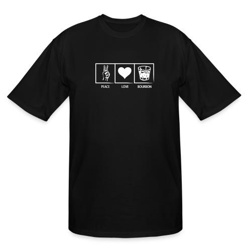 Peace, Love, Bourbon - Men's Tall T-Shirt