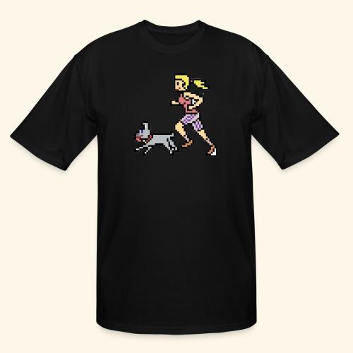 RunWithPixel - Men's Tall T-Shirt