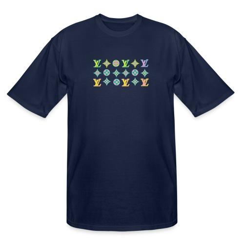 custom coloured LV pattern. - Men's Tall T-Shirt