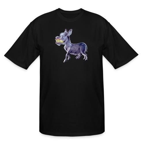 Funny Keep Smiling Donkey - Men's Tall T-Shirt