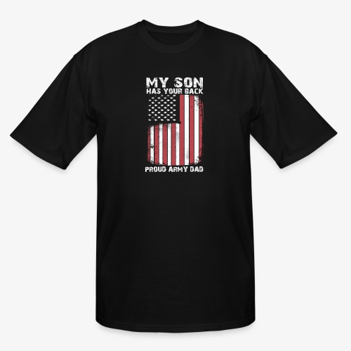 My son has your back - Men's Tall T-Shirt