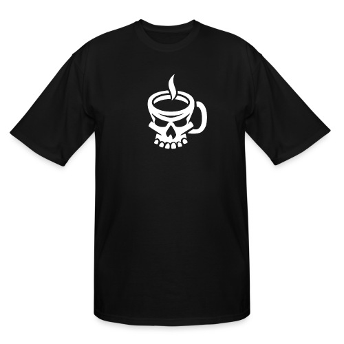 Caffeinated Coffee Skull - Men's Tall T-Shirt
