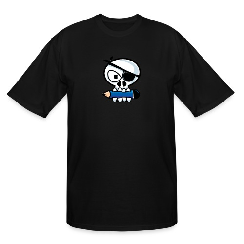 Pirate Old Skull Goes to School - Men's Tall T-Shirt
