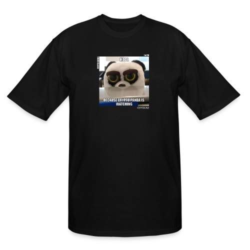Crypto Panda Is Watching (Crypto Series) - Men's Tall T-Shirt