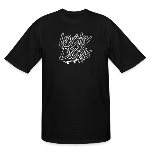 Loyalty Boards White Font With Board - Men's Tall T-Shirt