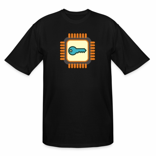 Micro Crypto Chip - Men's Tall T-Shirt