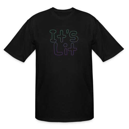 2-Tone It's Lit! Design - Men's Tall T-Shirt