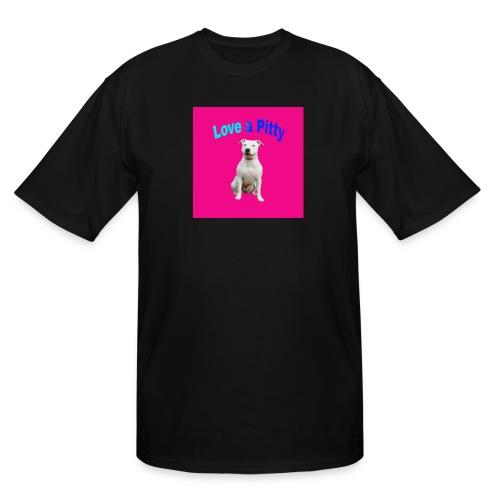 Pink Pit Bull - Men's Tall T-Shirt
