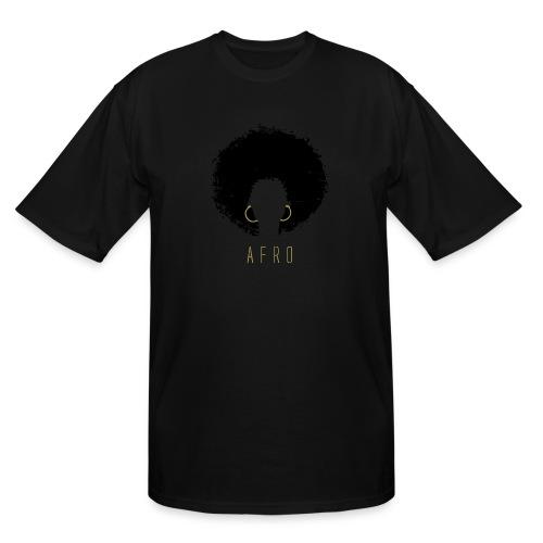 Black Afro American Latina Natural Hair - Men's Tall T-Shirt