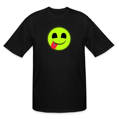 Glowing Emoticon - Men's Tall T-Shirt
